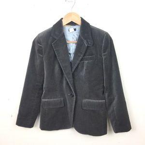 J.crew Gray Velvet Blazer Jacket 8